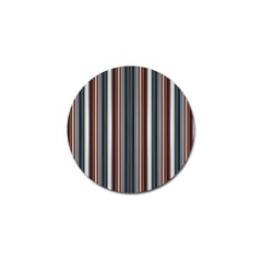 Pear Blossom Teal Orange Brown Coordinating Stripes  Golf Ball Marker (4 Pack)