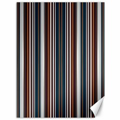 Pear Blossom Teal Orange Brown Coordinating Stripes  Canvas 36  X 48