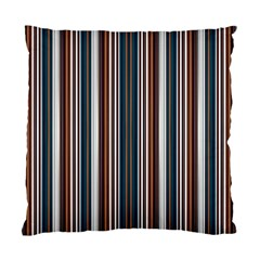 Pear Blossom Teal Orange Brown Coordinating Stripes  Standard Cushion Case (two Sides)