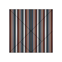 Pear Blossom Teal Orange Brown Coordinating Stripes  Acrylic Tangram Puzzle (4  X 4 )