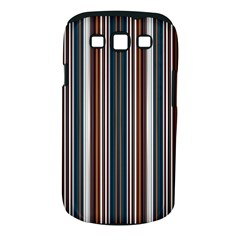 Pear Blossom Teal Orange Brown Coordinating Stripes  Samsung Galaxy S Iii Classic Hardshell Case (pc+silicone)