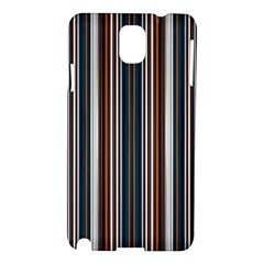 Pear Blossom Teal Orange Brown Coordinating Stripes  Samsung Galaxy Note 3 N9005 Hardshell Case