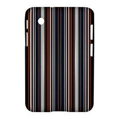 Pear Blossom Teal Orange Brown Coordinating Stripes  Samsung Galaxy Tab 2 (7 ) P3100 Hardshell Case