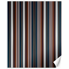 Pear Blossom Teal Orange Brown Coordinating Stripes  Canvas 16  X 20
