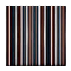 Pear Blossom Teal Orange Brown Coordinating Stripes  Face Towel