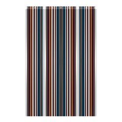 Pear Blossom Teal Orange Brown Coordinating Stripes  Shower Curtain 48  X 72  (small)