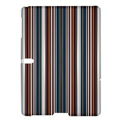Pear Blossom Teal Orange Brown Coordinating Stripes  Samsung Galaxy Tab S (10 5 ) Hardshell Case