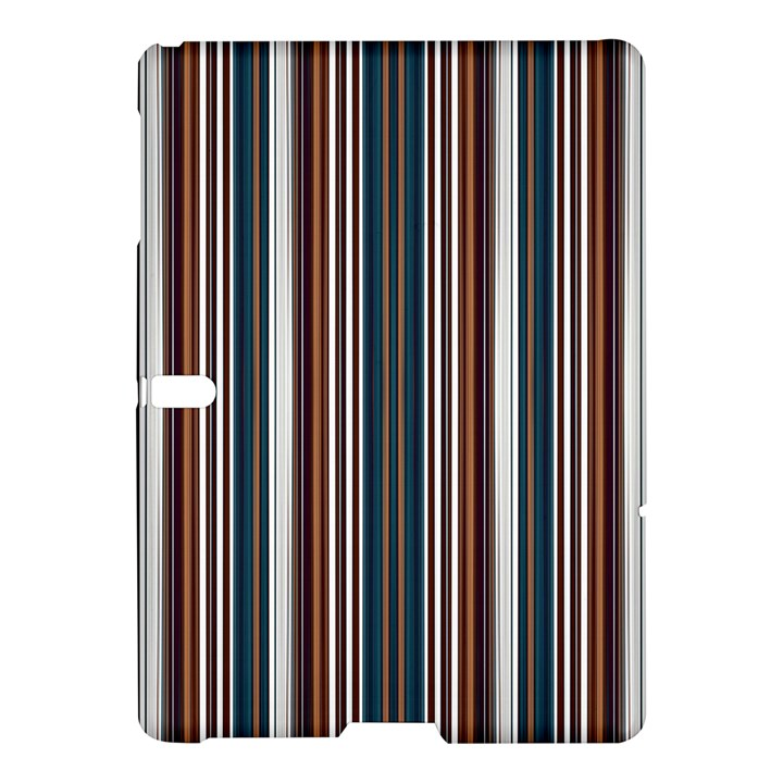 Pear Blossom Teal Orange Brown Coordinating Stripes  Samsung Galaxy Tab S (10.5 ) Hardshell Case