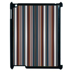 Pear Blossom Teal Orange Brown Coordinating Stripes  Apple Ipad 2 Case (black)
