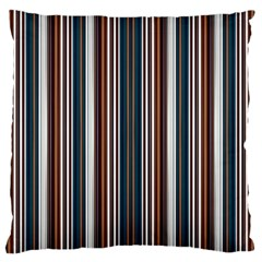 Pear Blossom Teal Orange Brown Coordinating Stripes  Large Cushion Case (one Side)
