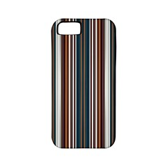Pear Blossom Teal Orange Brown Coordinating Stripes  Apple Iphone 5 Classic Hardshell Case (pc+silicone)