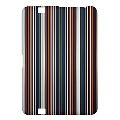 Pear Blossom Teal Orange Brown Coordinating Stripes  Kindle Fire Hd 8 9