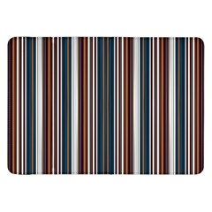 Pear Blossom Teal Orange Brown Coordinating Stripes  Samsung Galaxy Tab 8 9  P7300 Flip Case