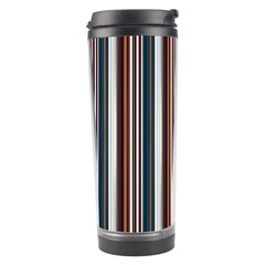 Pear Blossom Teal Orange Brown Coordinating Stripes  Travel Tumbler