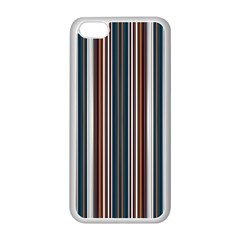 Pear Blossom Teal Orange Brown Coordinating Stripes  Apple Iphone 5c Seamless Case (white)