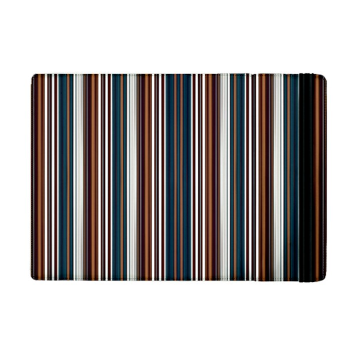Pear Blossom Teal Orange Brown Coordinating Stripes  iPad Mini 2 Flip Cases