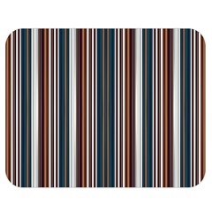 Pear Blossom Teal Orange Brown Coordinating Stripes  Double Sided Flano Blanket (medium)