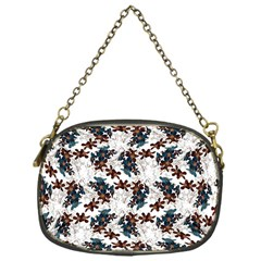 Pear Blossom Teal Orange Brown  Chain Purses (one Side)