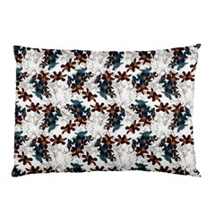 Pear Blossom Teal Orange Brown  Pillow Case
