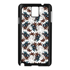 Pear Blossom Teal Orange Brown  Samsung Galaxy Note 3 N9005 Case (black)