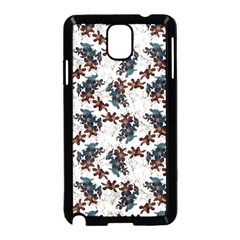 Pear Blossom Teal Orange Brown  Samsung Galaxy Note 3 Neo Hardshell Case (black)