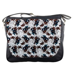 Pear Blossom Teal Orange Brown  Messenger Bags