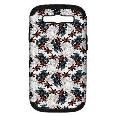 Pear Blossom Teal Orange Brown  Samsung Galaxy S Iii Hardshell Case (pc+silicone)