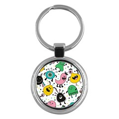 Cute And Fun Monsters Pattern Key Chains (round)