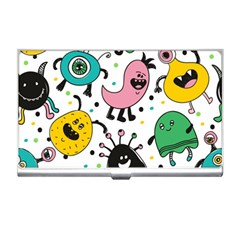 Cute And Fun Monsters Pattern Business Card Holders