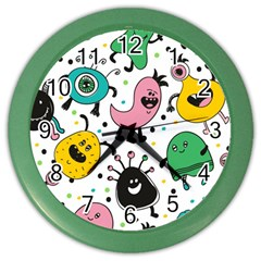 Cute And Fun Monsters Pattern Color Wall Clocks