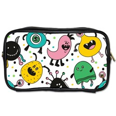 Cute And Fun Monsters Pattern Toiletries Bags