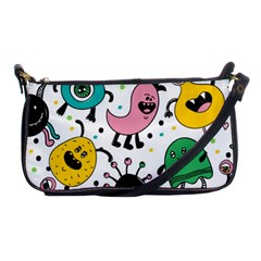 Cute And Fun Monsters Pattern Shoulder Clutch Bags
