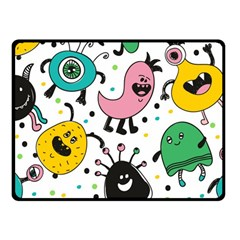 Cute And Fun Monsters Pattern Fleece Blanket (small)