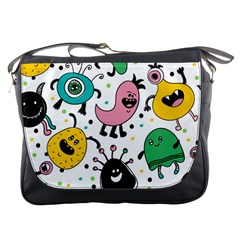 Cute And Fun Monsters Pattern Messenger Bags