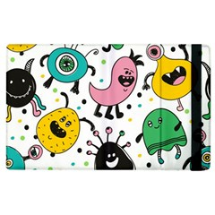 Cute And Fun Monsters Pattern Apple Ipad 2 Flip Case
