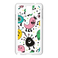 Cute And Fun Monsters Pattern Samsung Galaxy Note 3 N9005 Case (white)