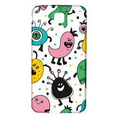 Cute And Fun Monsters Pattern Samsung Galaxy S5 Back Case (white)