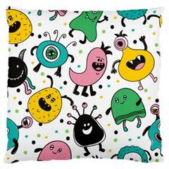 Cute And Fun Monsters Pattern Standard Flano Cushion Case (two Sides)