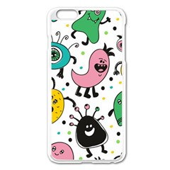 Cute And Fun Monsters Pattern Apple Iphone 6 Plus/6s Plus Enamel White Case