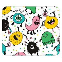 Cute And Fun Monsters Pattern Double Sided Flano Blanket (small)