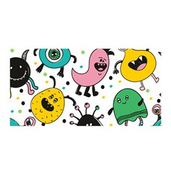 Cute And Fun Monsters Pattern Satin Wrap