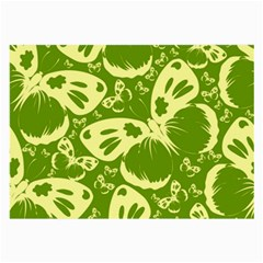 Pale Green Butterflies Pattern Large Glasses Cloth (2 Side)
