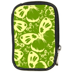 Pale Green Butterflies Pattern Compact Camera Cases