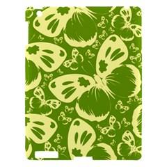 Pale Green Butterflies Pattern Apple Ipad 3/4 Hardshell Case