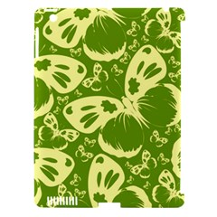 Pale Green Butterflies Pattern Apple Ipad 3/4 Hardshell Case (compatible With Smart Cover)