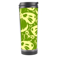 Pale Green Butterflies Pattern Travel Tumbler