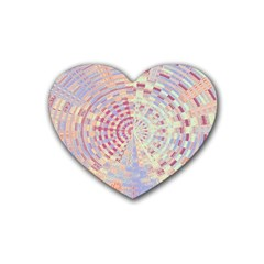 Gateway To Thelight Pattern  Rubber Coaster (heart)