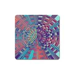 Gateway To Thelight Pattern 4 Square Magnet