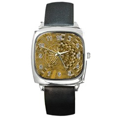 Gatway To Thelight Pattern 4 Square Metal Watch