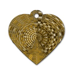 Gatway To Thelight Pattern 4 Dog Tag Heart (two Sides)